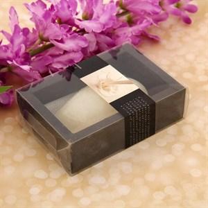 Лавандовое мыло ваниль в подарочной упаковке