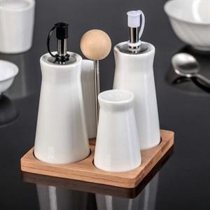 Набор для масла, соуса и специй на подставке