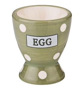 """Подставка под яйцо """"Горох"""" зеленая"""