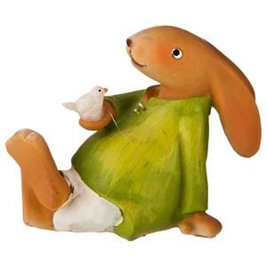 """Статуэтка """"Заяц с птичкой"""""""