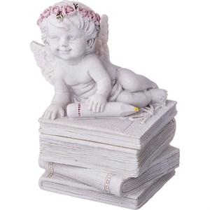 "Статуэтка-шкатулка ""Ангел на книгах"""