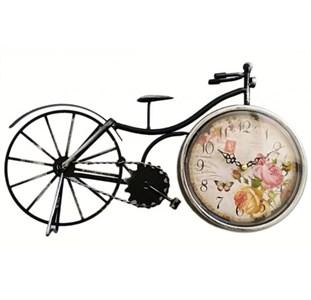 """Настольные часы """"Винтажный велосипед"""" с цветами"""