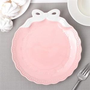 "Тарелка ""Бант"" розовая 20 см"