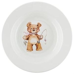 "Тарелка глубокая ""Медвежонок"" 250 мл в ассортименте, цена за 1 шт"