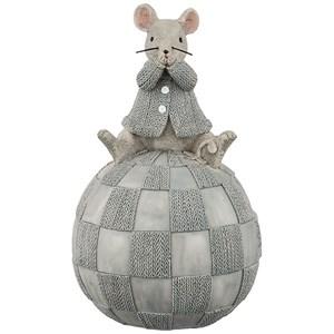 "Статуэтка-копилка ""Мышка на шаре"""