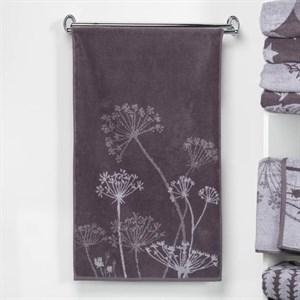 """Полотенце махровое """"Полевые цветы"""" 50х90 см серое"""