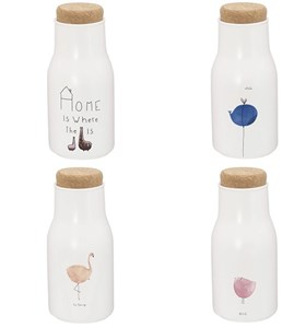 Бутылка керамическая 350 мл с крышкой в ассортименте