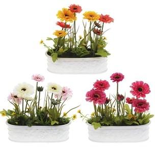 Цветы искусственные в кашпо в ассортименте