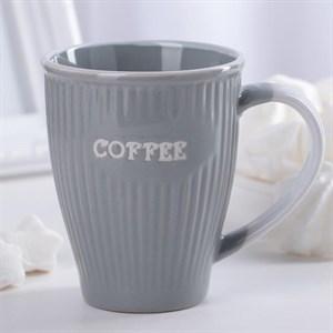 """Кружка """"Кофе"""" 270 мл серая"""