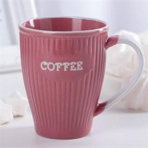 """Кружка """"Кофе"""" 270 мл розовая"""