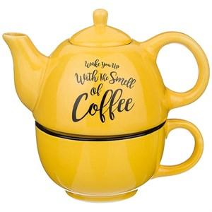 "Набор из чайника 330 мл и кружки 280 мл ""Кофе"""