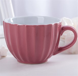 Кружка 400 мл розовая