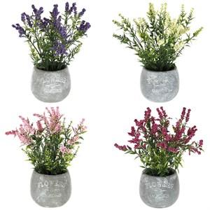Цветок искусственный: лаванда в кашпо 24 см
