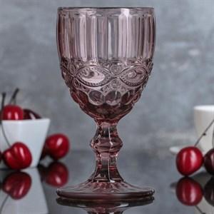 """Бокал """"Франция"""" 200 мл розовый из цветного стекла"""