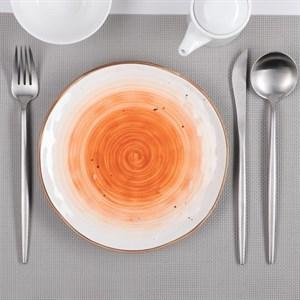 "Тарелка ""Испания"" 20 см оранжевая"