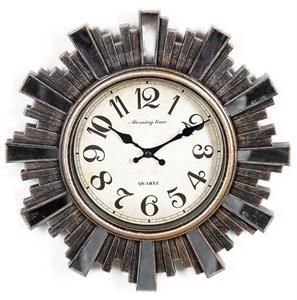 """Часы настенные """"Солнце"""" винтажные 30 см"""