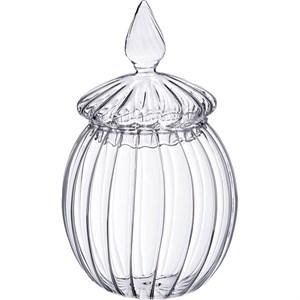 Конфетница стеклянная рифленая
