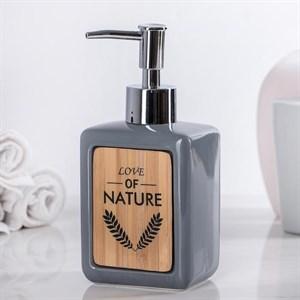 Дозатор для мыла серый