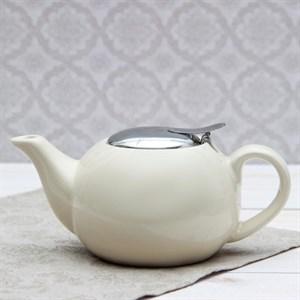 Чайник заварочный 600 мл с ситом молочный