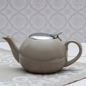 Чайник заварочный 600 мл с ситом коричневый