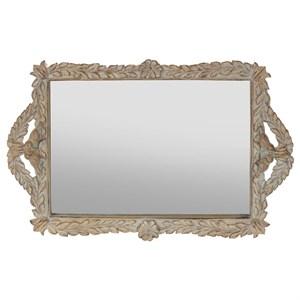 Поднос зеркальный 39х25 см