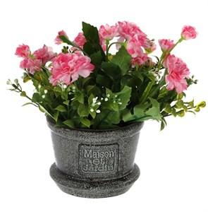 Цветок искусственный в кашпо 24 см