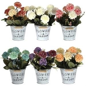 Цветок искусственный в ведерке в ассортименте