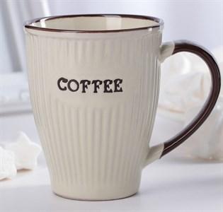 "Кружка ""Кофе"" 270 мл бежевая"