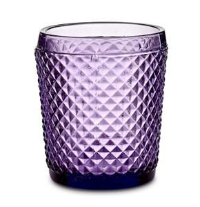 """Стакан """"Винтаж"""" 300 мл фиолетовый из цветного стекла"""