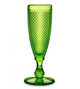 """Бокал """"Винтаж"""" для шампанского зеленый из цветного стекла"""