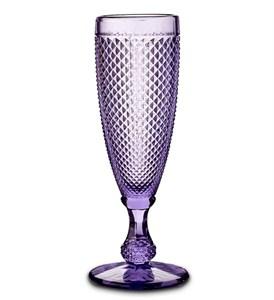 """Бокал """"Винтаж"""" для шампанского фиолетовый из цветного стекла"""