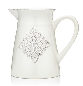 "Кувшин керамический ""Медальон"" 1150 мл белый"