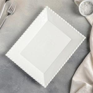 Тарелка сервировочная с каймой 25х20 см