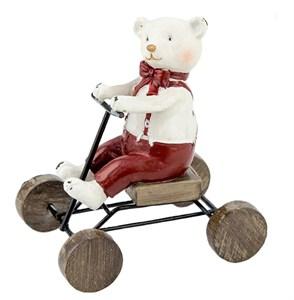 "Статуэтка ""Медвежонок на велосипеде"""