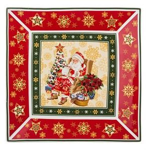 """Блюдо """"Дед Мороз с елкой"""" 22х22 см в подарочной упаковке"""