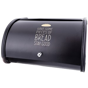 Хлебница металлическая черная