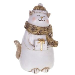 """Статуэтка """"Кот с подарком"""""""