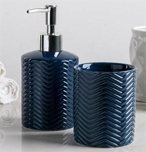 Набор для ванной комнаты синий