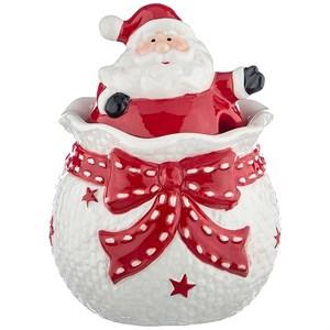 """Сахарница """"Дед Мороз"""" 400 мл с ложкой"""