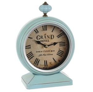 Часы настольные металлические голубые