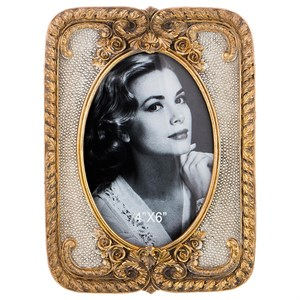 Фоторамка золотистая для фотографии 10х15 см
