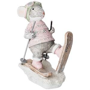 """Статуэтка """"Мышь на лыжах"""""""