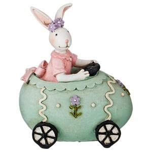 """Статуэтка """"Кролик девочка в машине"""""""