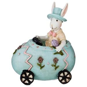 """Статуэтка """"Кролик в машине"""""""