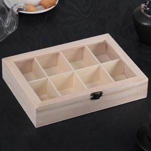 Шкатулка для чайных пакетиков на восемь отделений