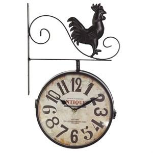 Часы настенные двухсторонние с петушком, диаметр 22 см
