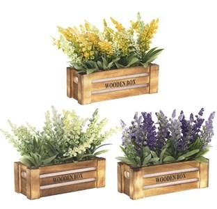 Цветы искусственные в ящике, цена за штуку