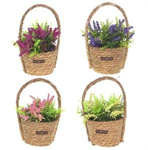 Цветы искусственные в корзине, цена за штуку