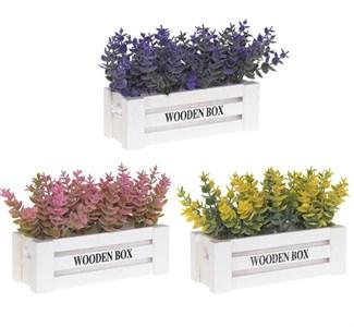 Цветы искусственные в белом ящике, цена за штуку
