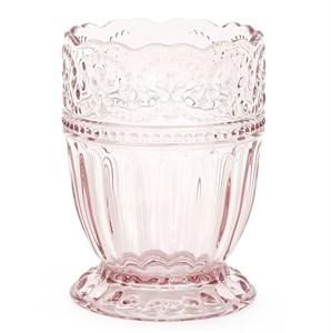 """Стакан """"Кружево"""" розовый 250 мл из цветного стекла"""